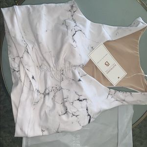 Buff Bunny Twisted Top - White Marble